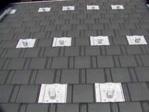 支持瓦を設置した屋根