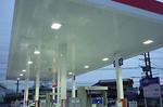 LED照明設置例(柴田石油様・ガソリンスタンド)